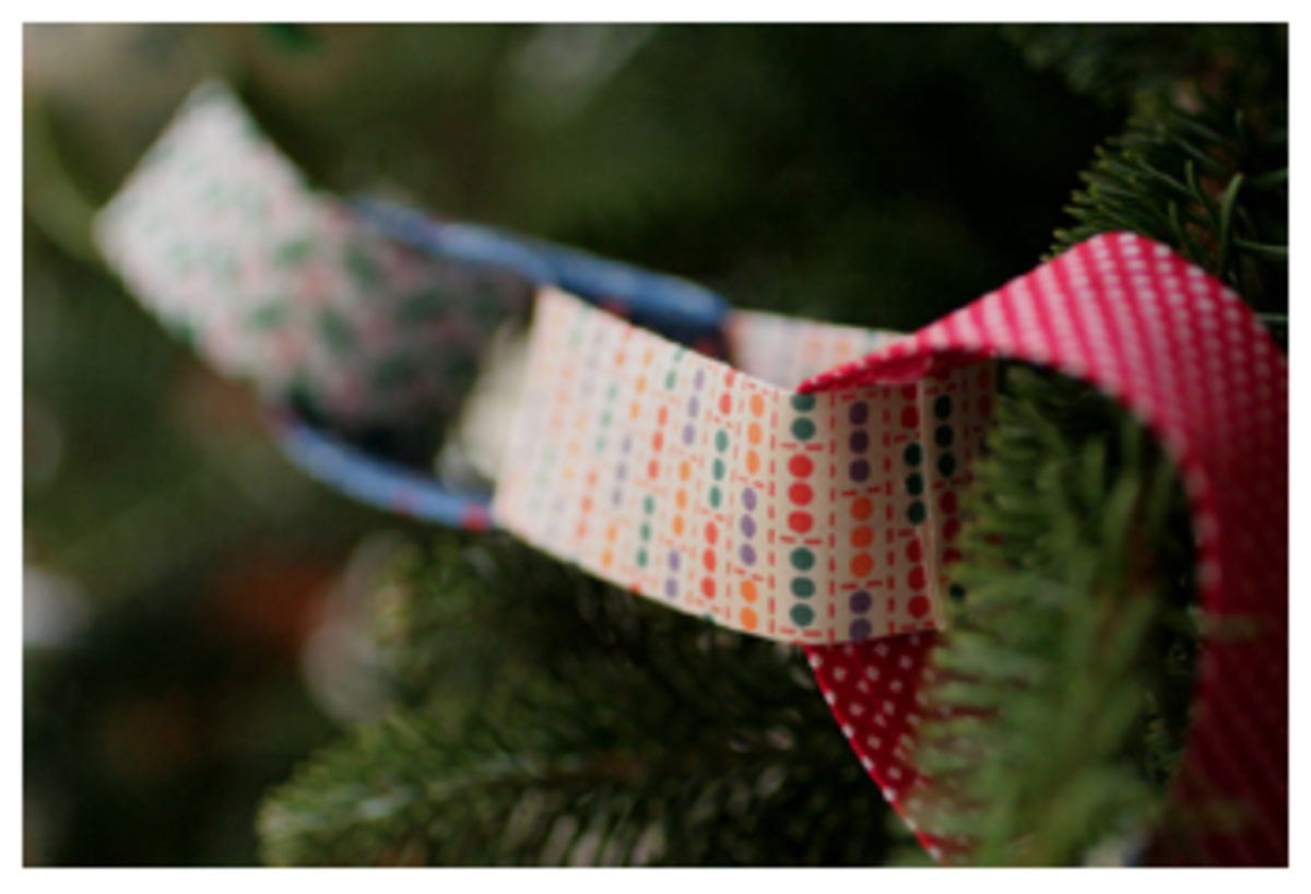 Christmas fabric garland instructions