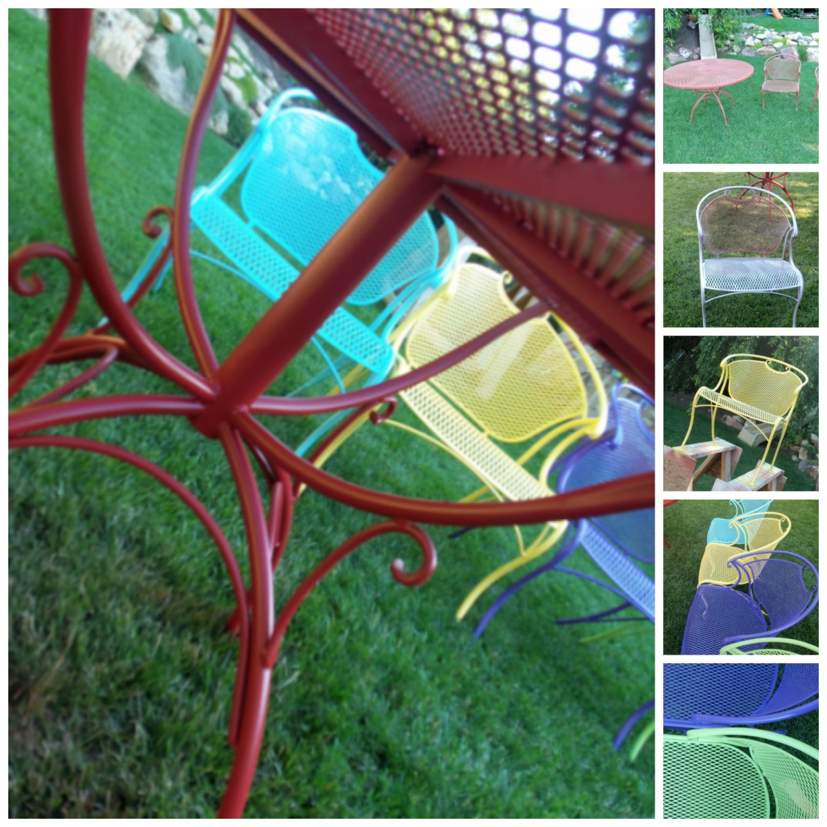 Step By Step Painting Wrought Iron Furniture