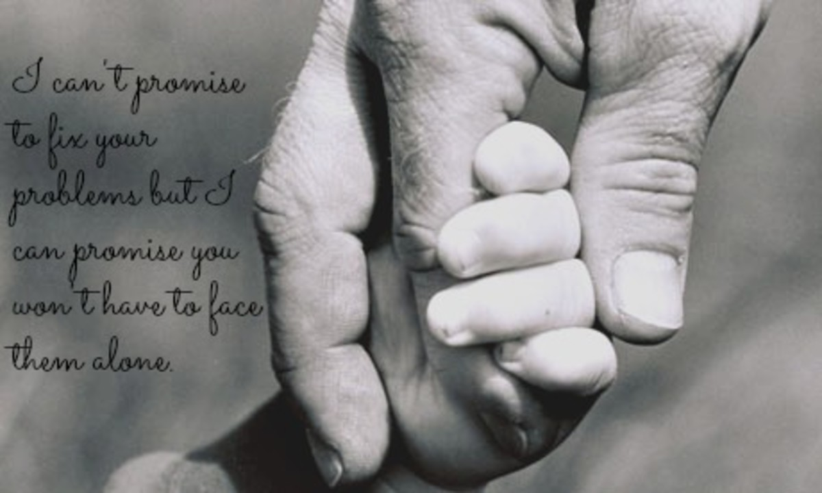 fathers hand