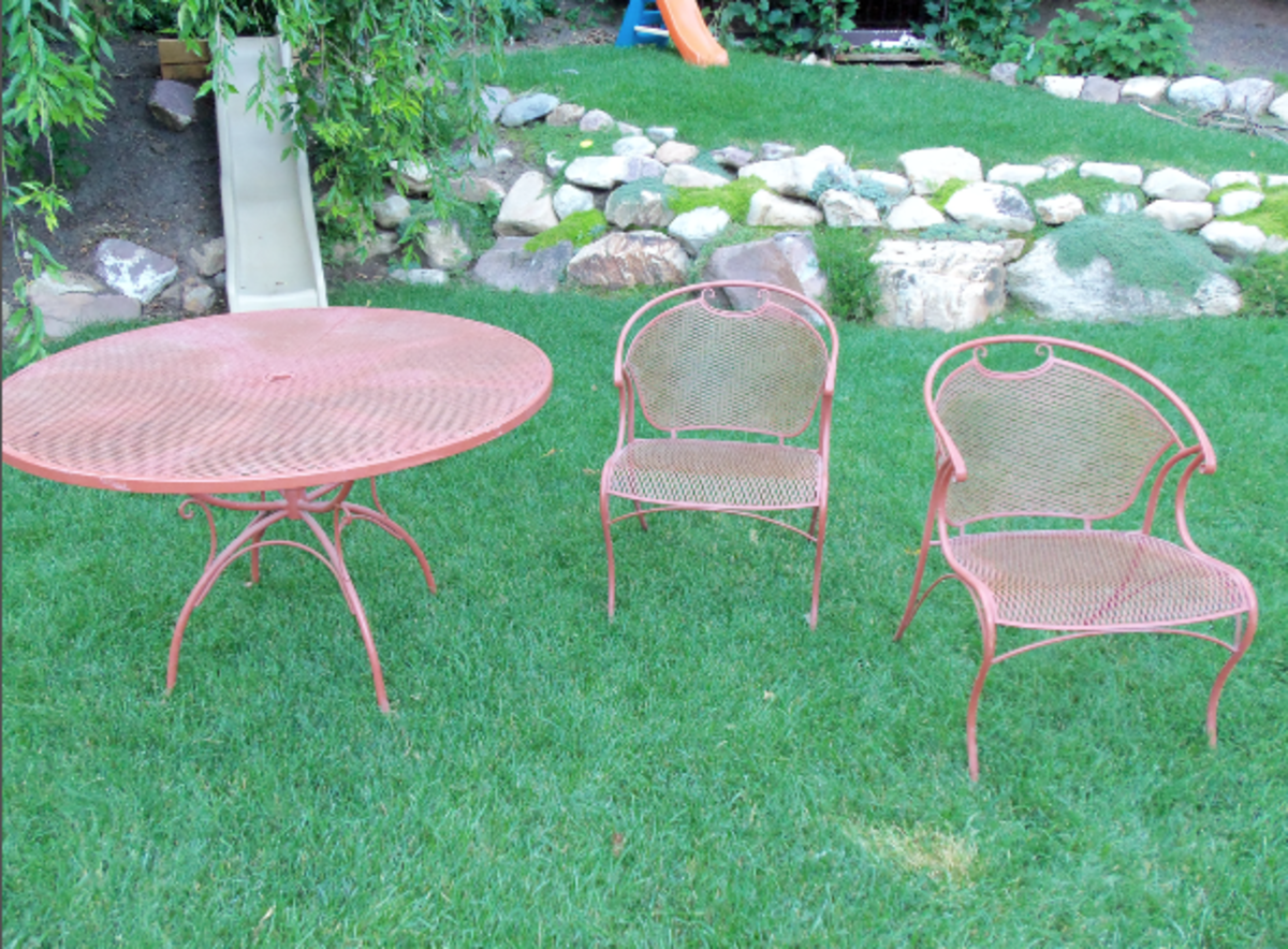 Spray Painting Wrought Iron Furniture