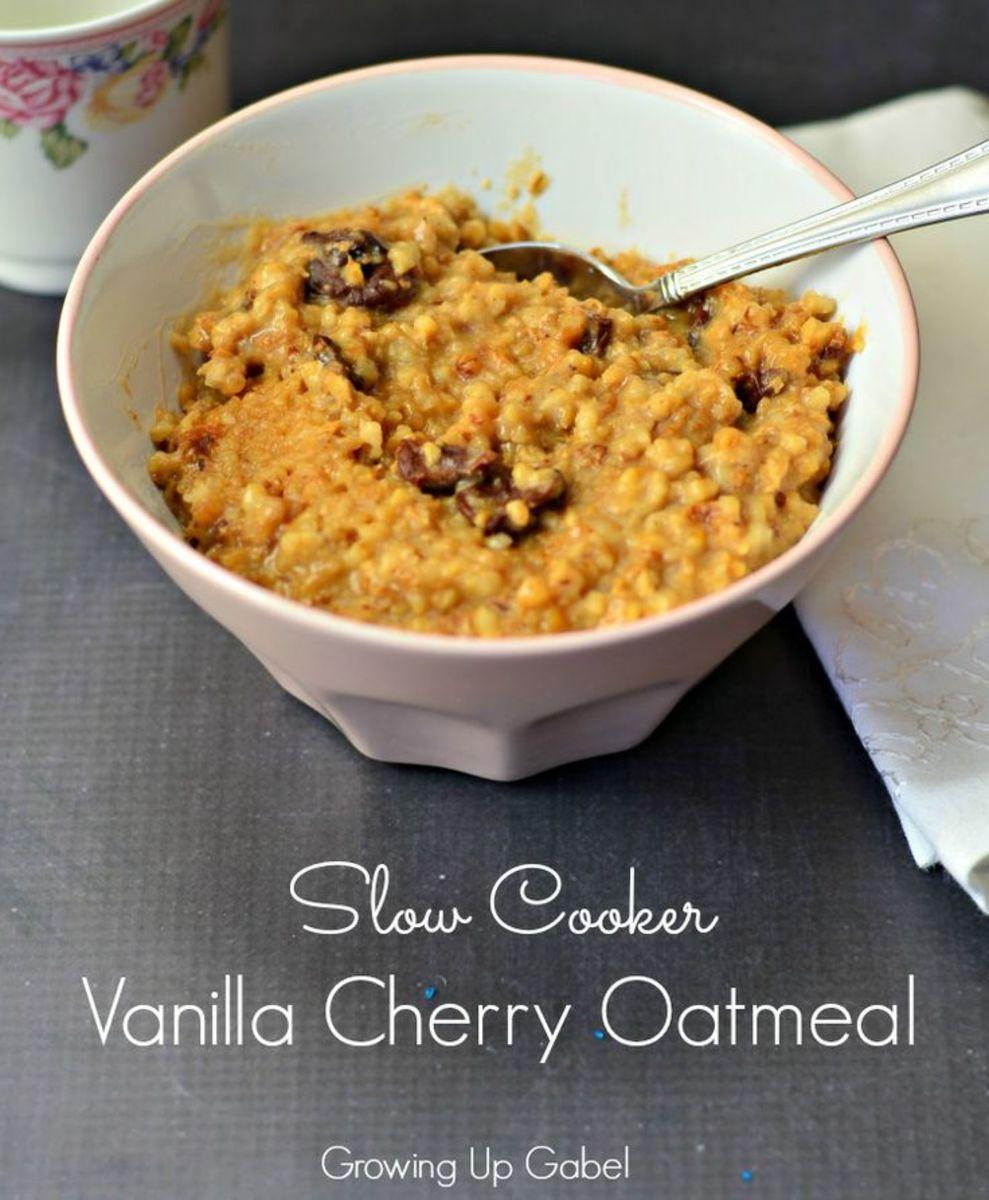 Vanilla Cherry Oatmeal