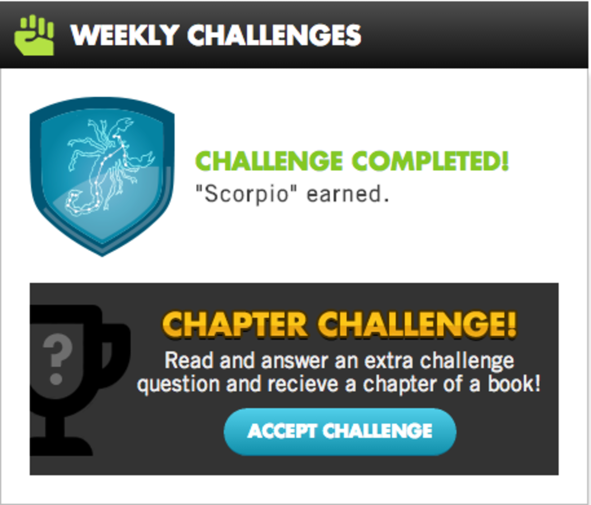 Scholastic Summer Reading Badges and Challenges