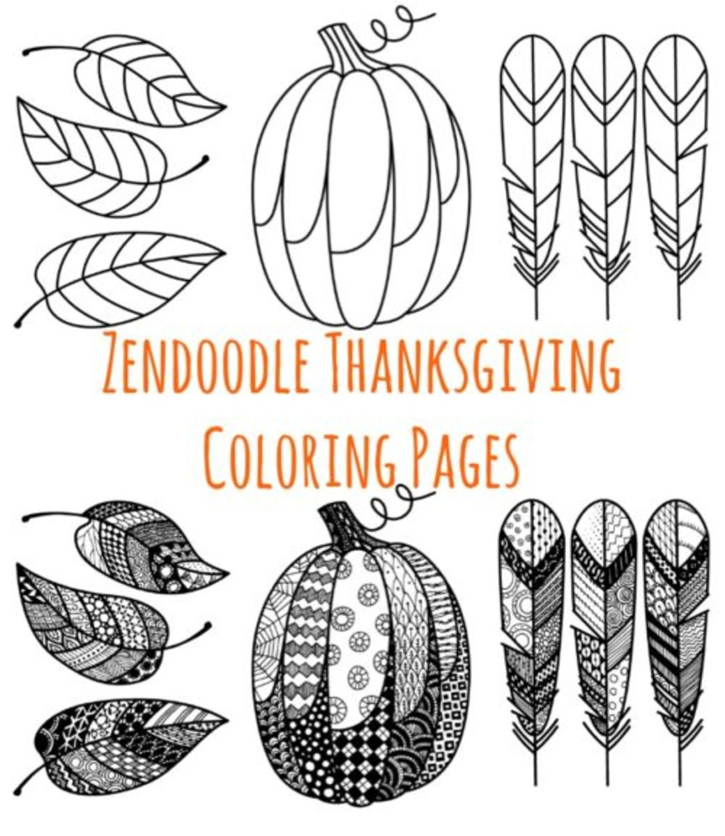 Zendoodle Thanksgiving Coloring Pages