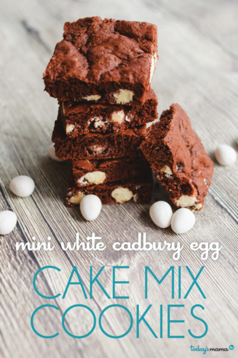 cadbury mini egg chocolate cookies