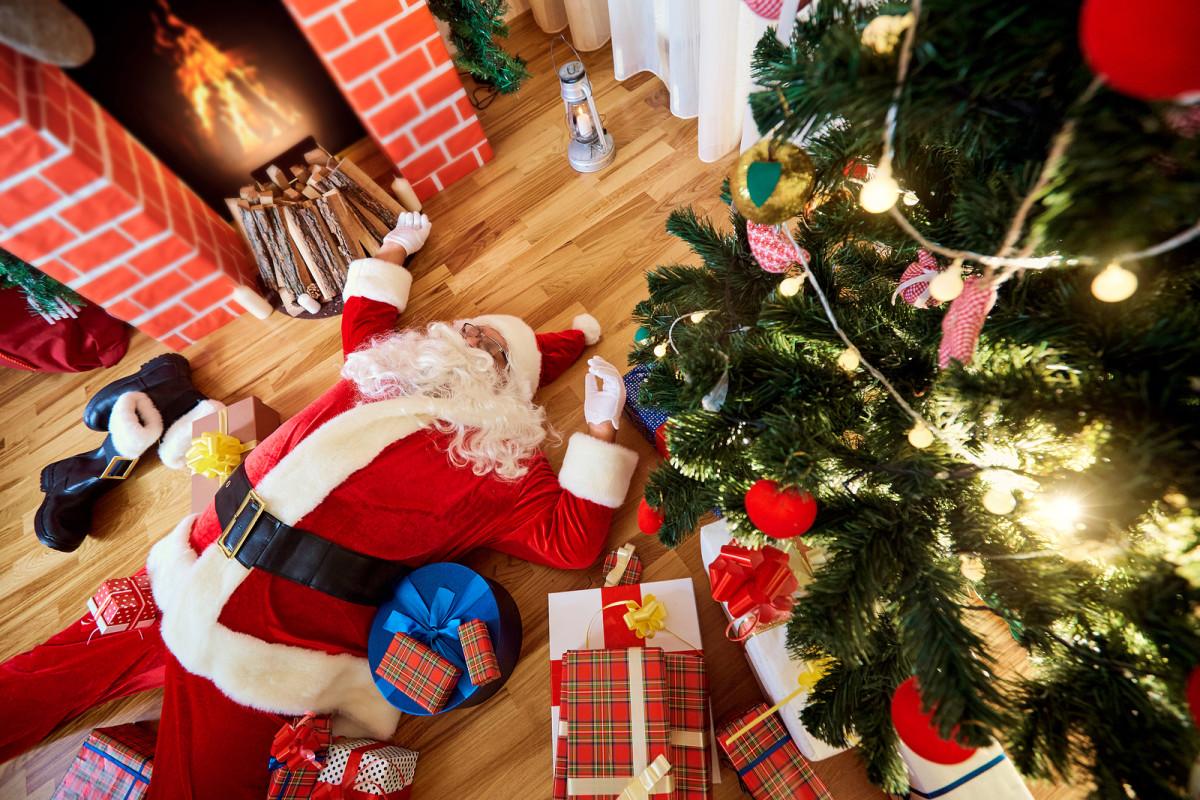 Santa's tired . . .