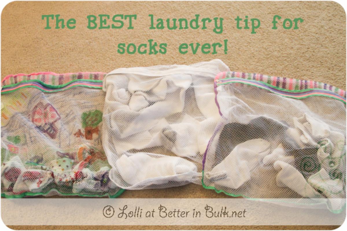 Sort Socks Into Lingerie Bags