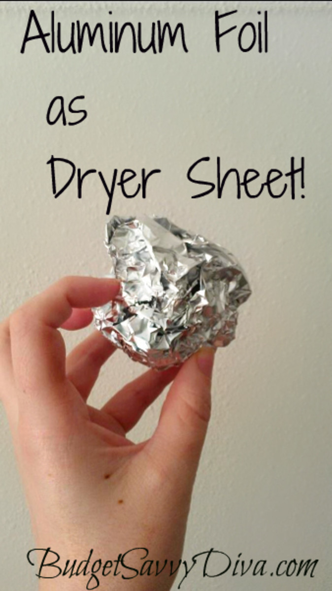 Aluminum Foil as Dryer Sheets