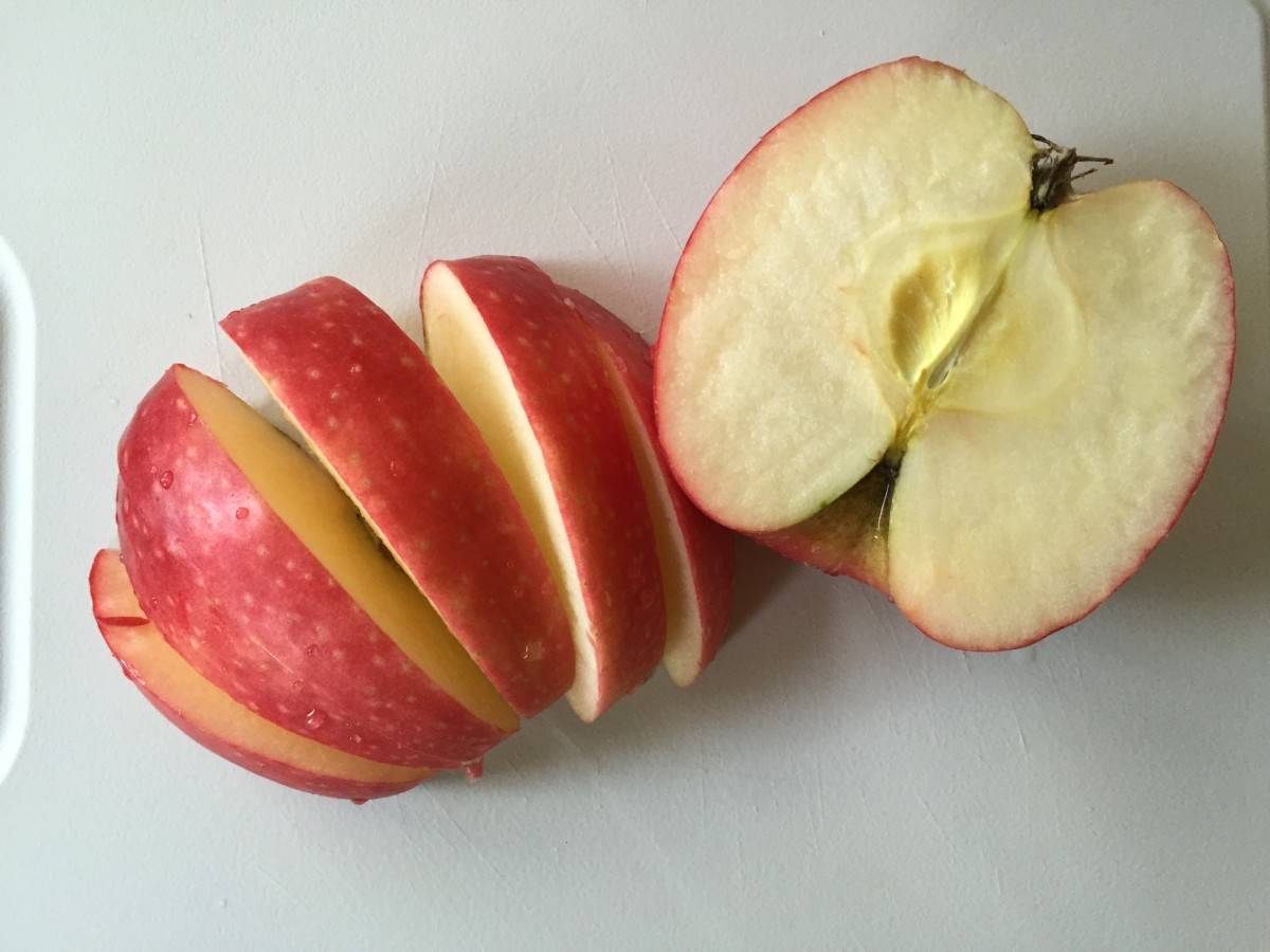 Apple Slices With Chocolate Coconut Almond Butter
