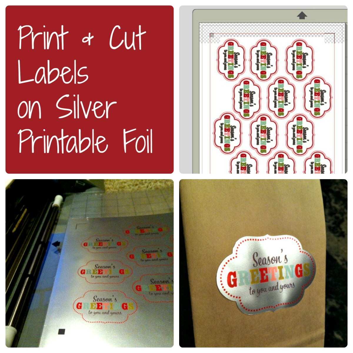 Print and Cut Label Project - Silhouette CAMEO - TodaysMama.com