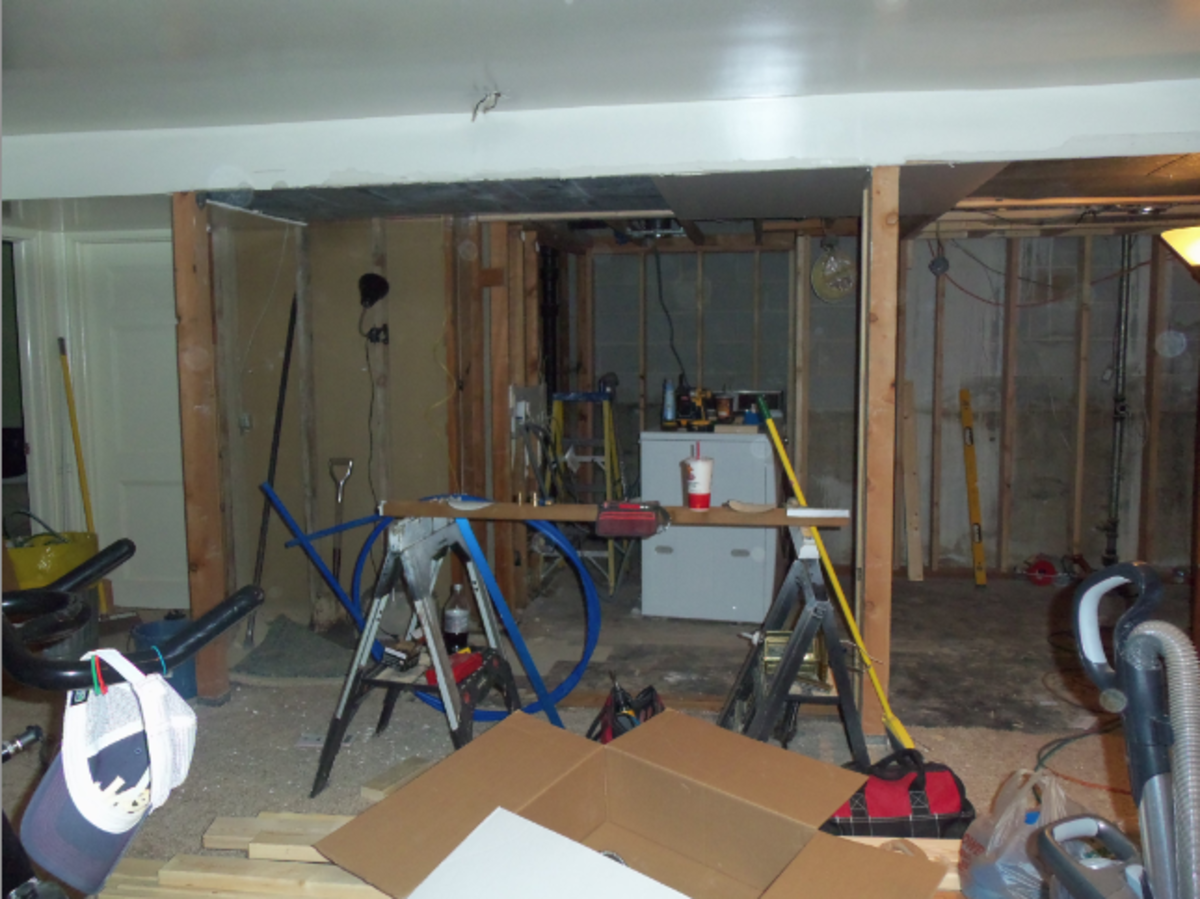Unfinished Laundry Room Remodel