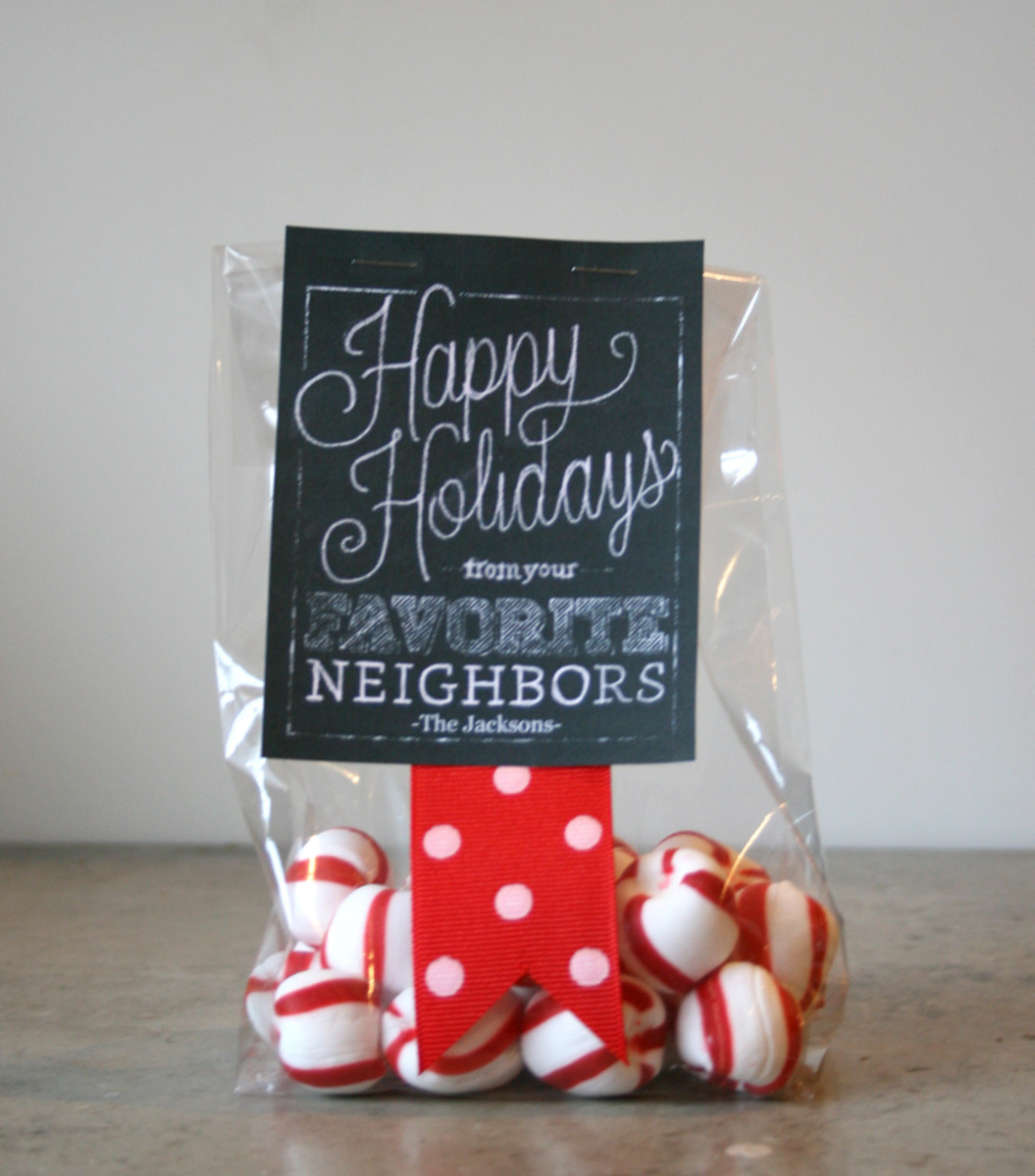 Favorite Neighbor Printable Chalkboard Holiday Gift Tags