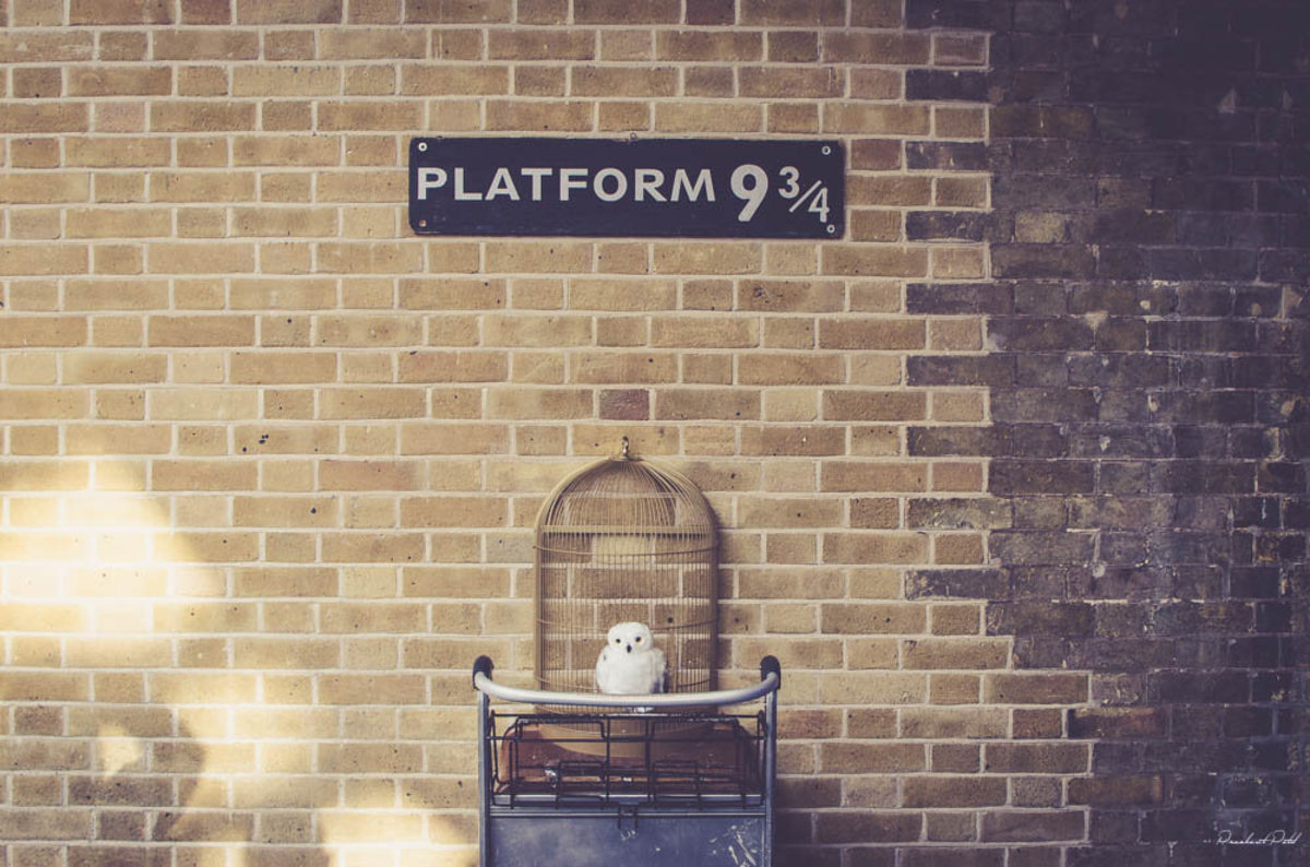 Trolley at Platform 9¾, King's Cross Station (Flickr: City.and.Color)