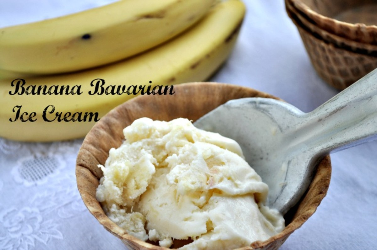 Homemade Ice Cream - Banana Bavarian Ice Cream - TodaysMama.com