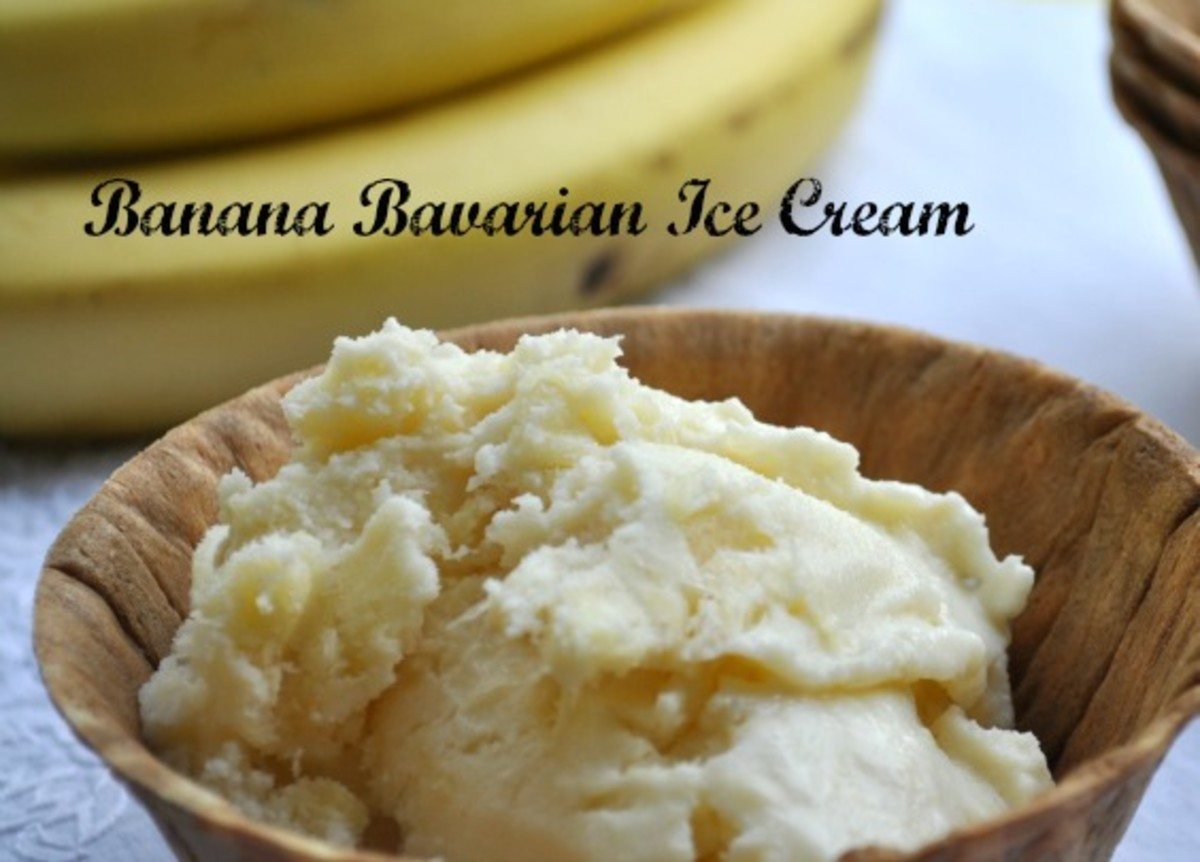 Banana Bavarian Ice Cream Title