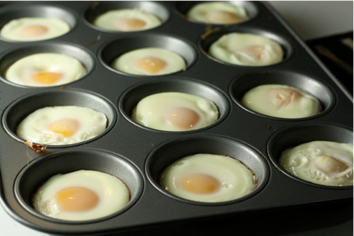 Baked eggs in muffin tins