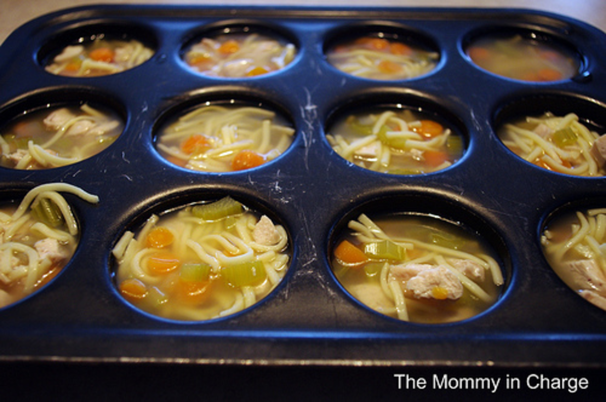 single serving soup in muffin tin recipes