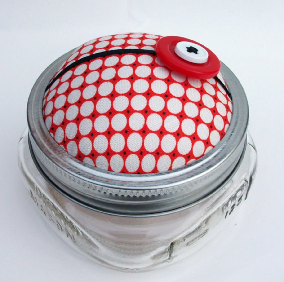 pincushion storage jar