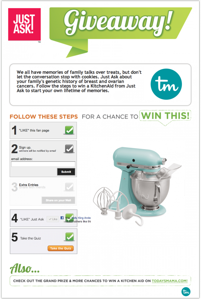 Just Ask Kitchen Aid Giveaway