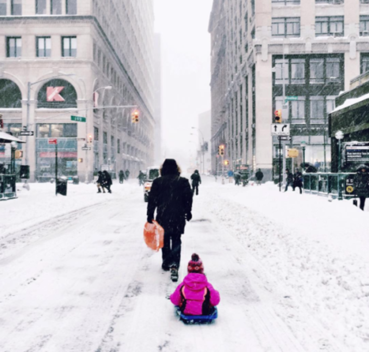 The Cutest Kid Pics from SNOWMAGEDDON 2016 @mommyshorts