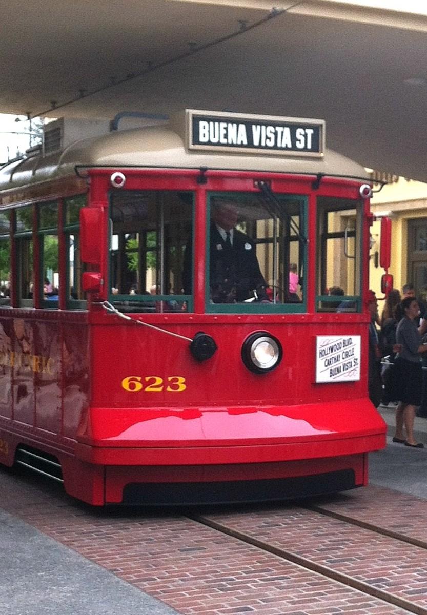 Red Car Trolley on Buena Vista Street