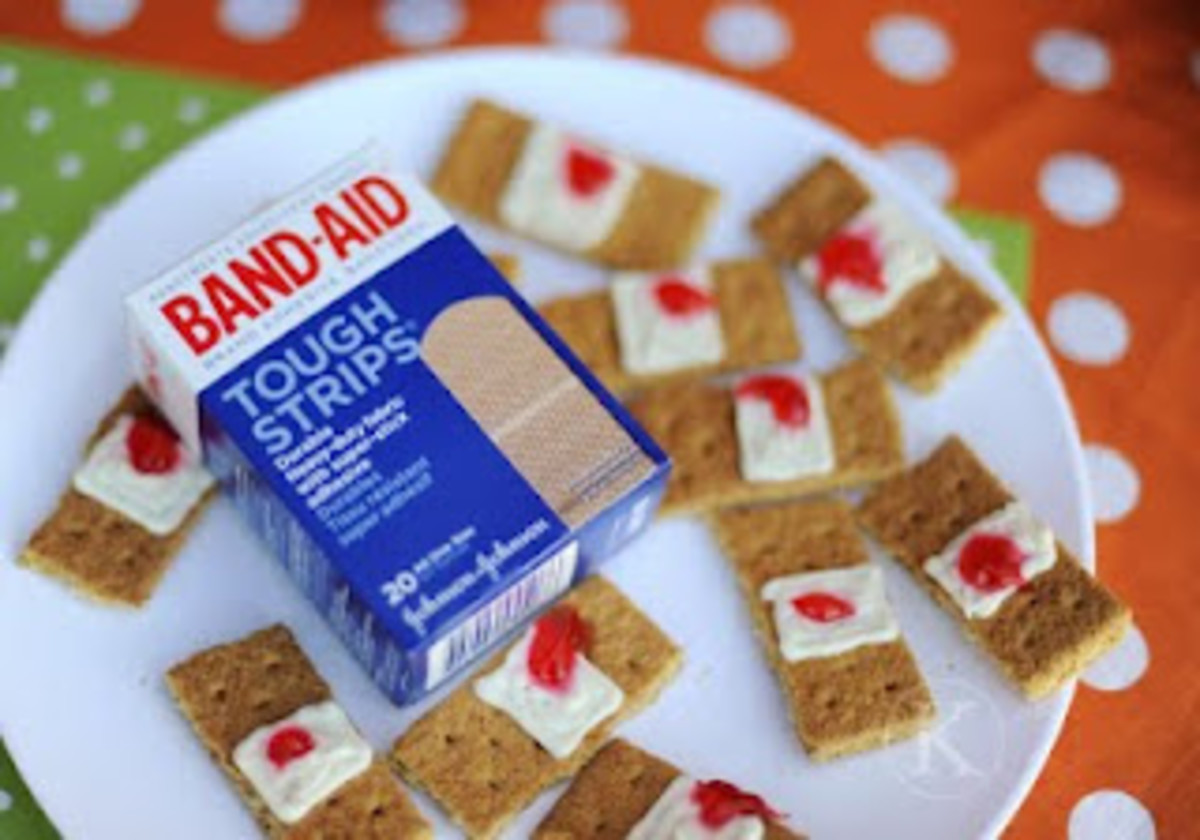 gross bandaid snacks