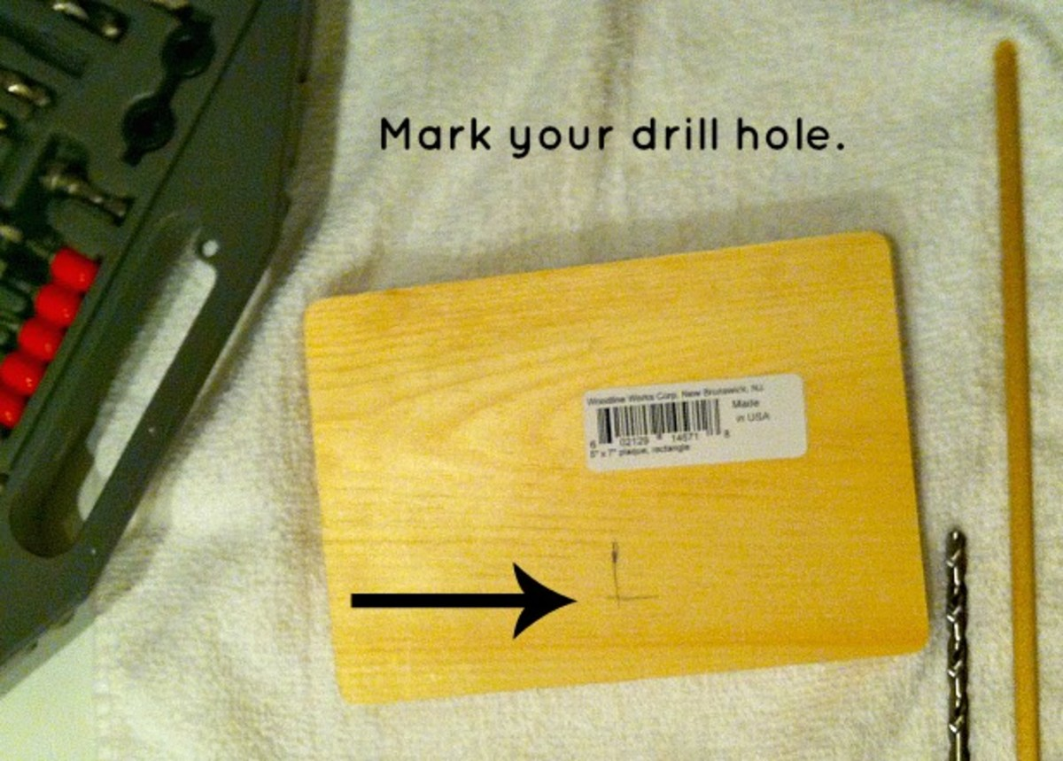 Mark your drill hole