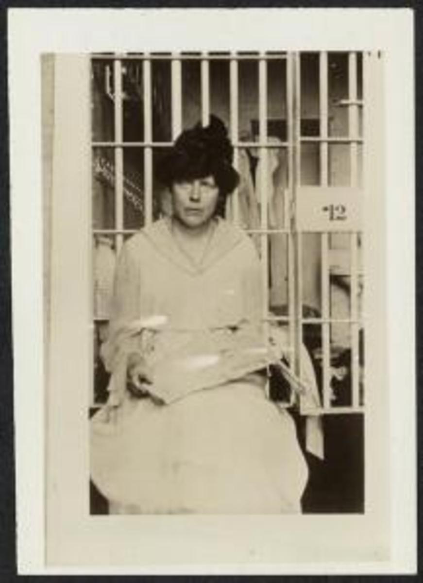 Lucy Burns who was beaten and jailed for picket the White House asking for the right to vote