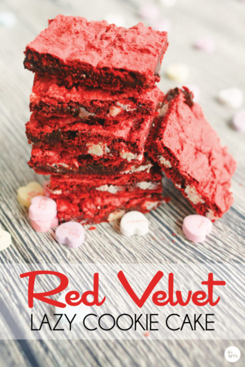 Red Velvet Cake Mix Cookies recipe with double chocolate