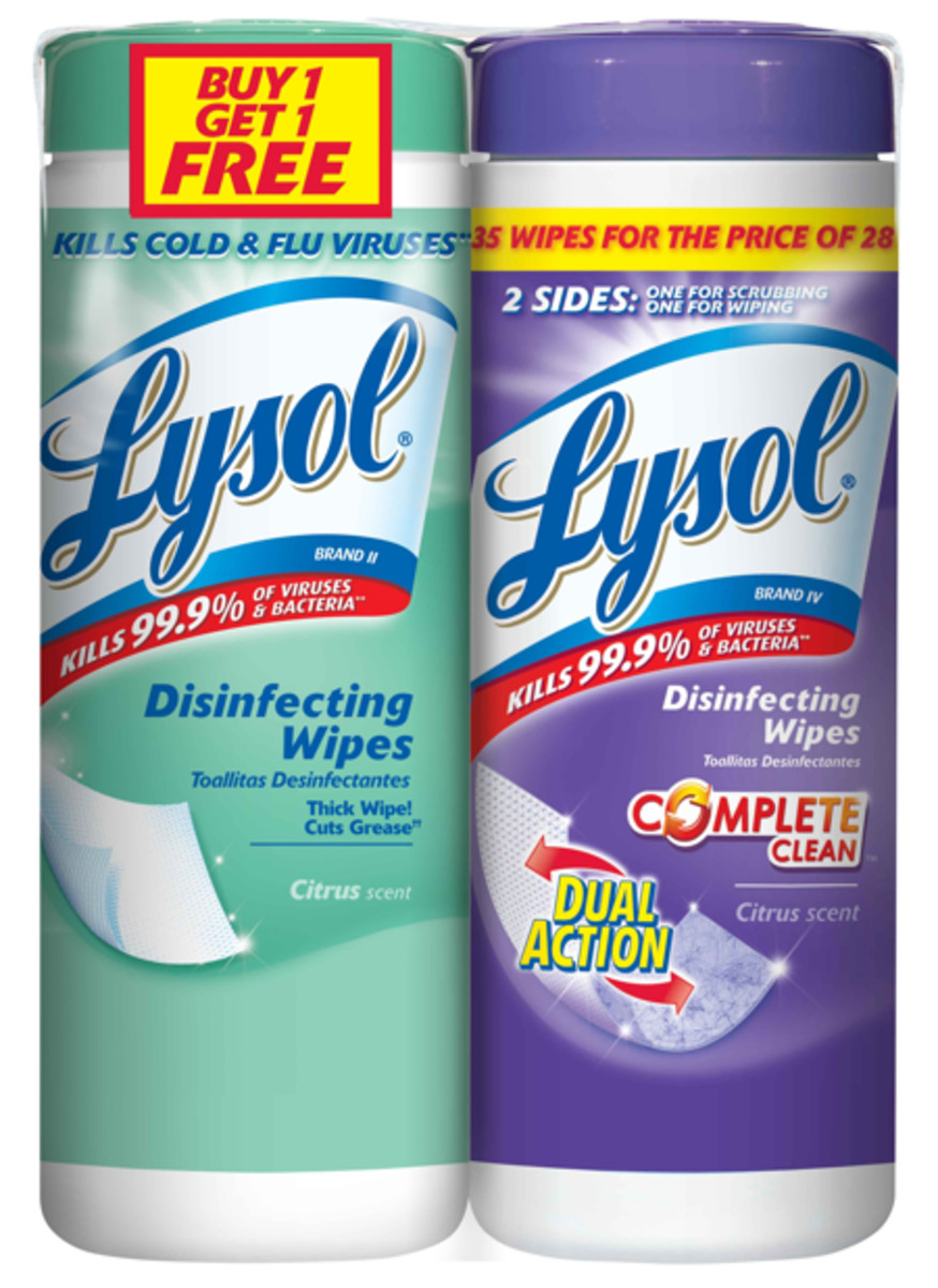 BOGO Lysol Disinfecting Wipes Image