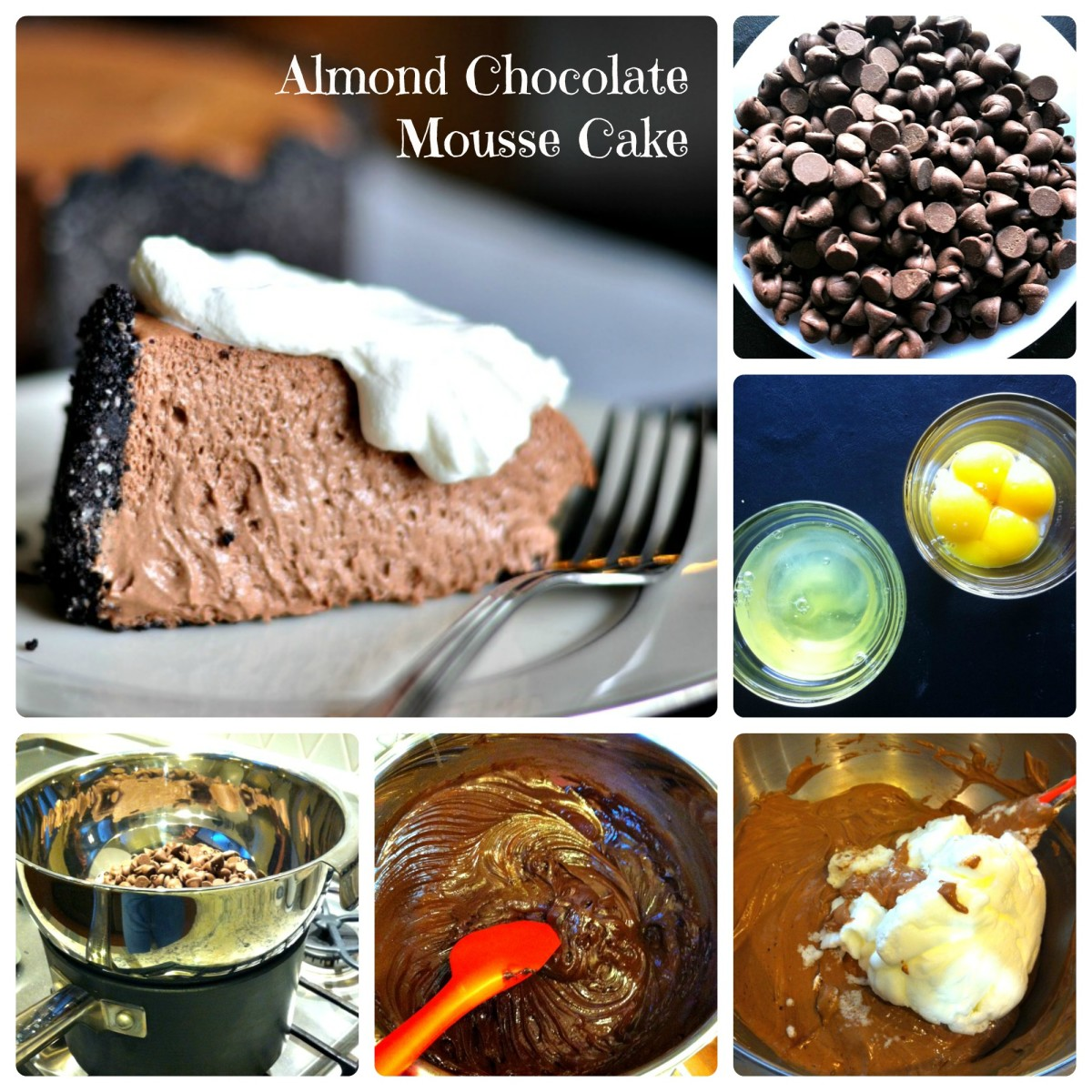 Almond Chocolate Mousse Cake Steps