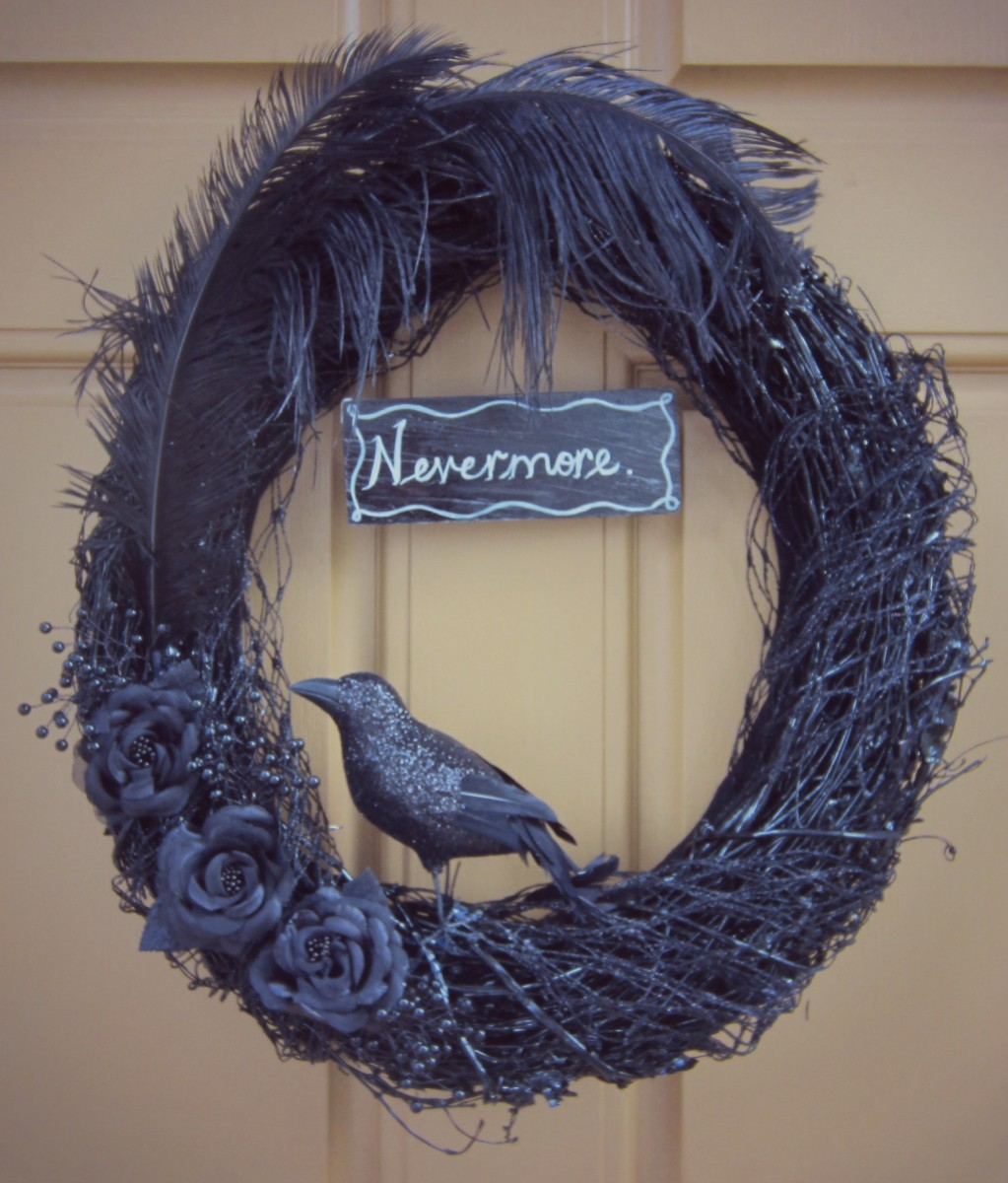 The Raven finished wreath