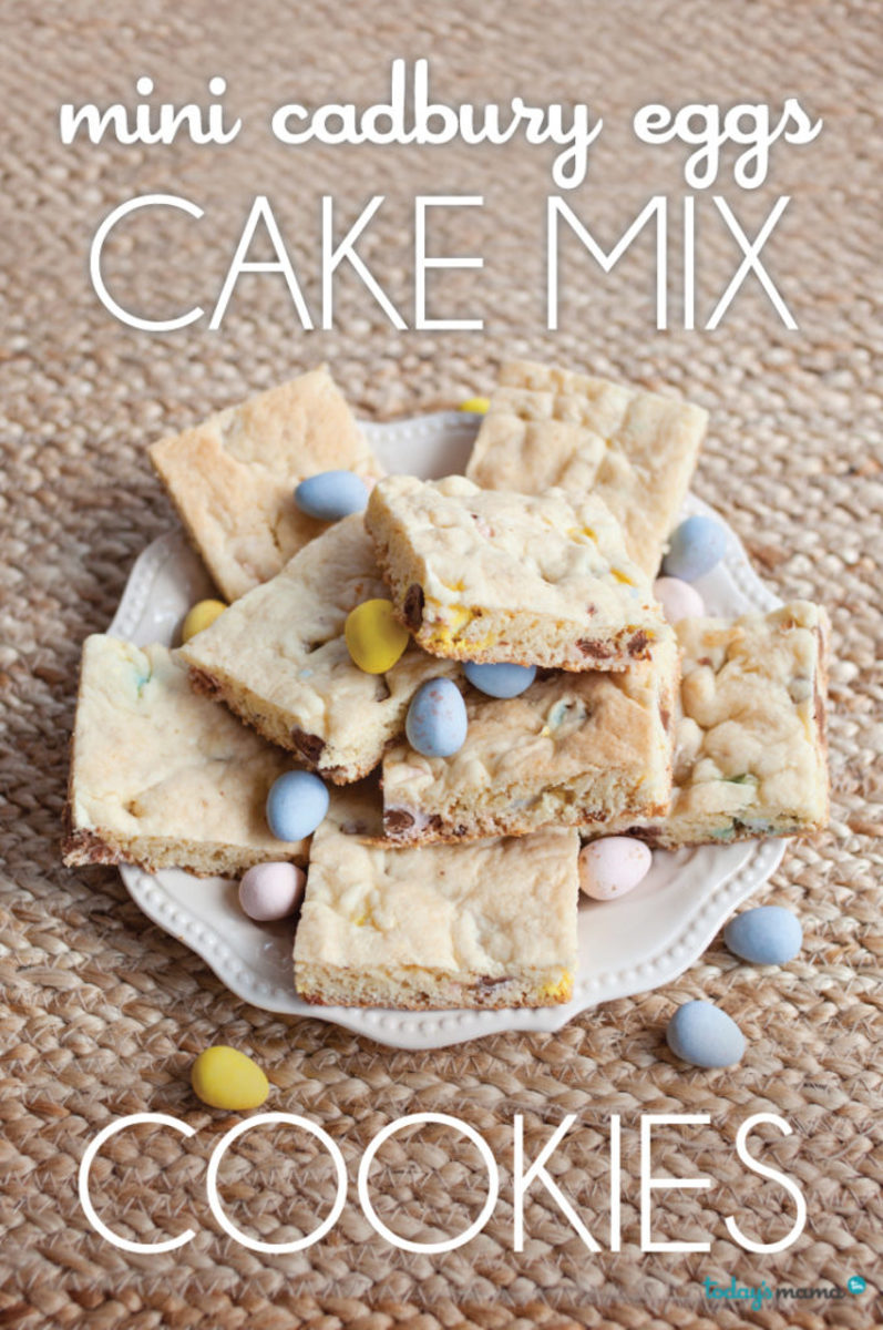 easy cadbury mini egg cookies