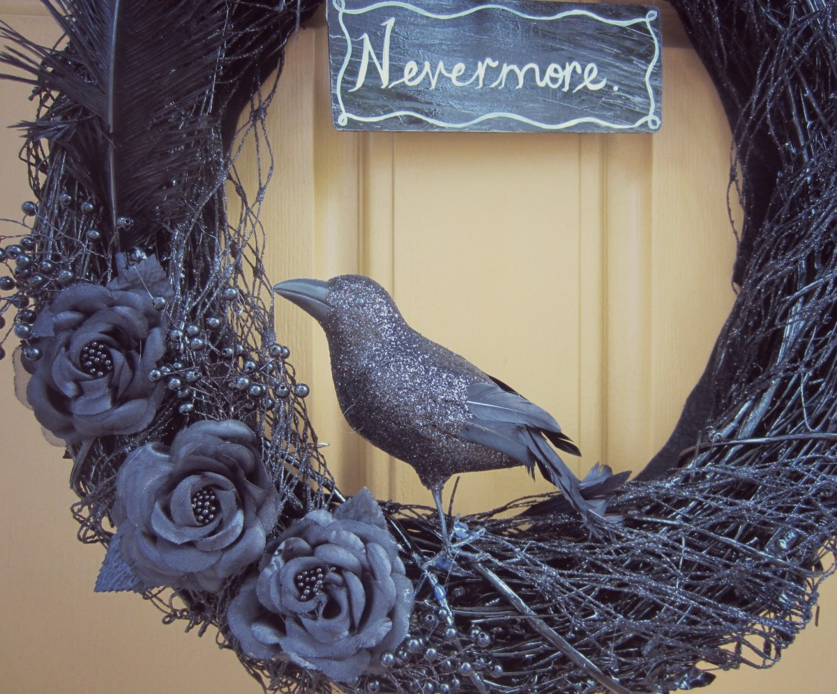 The Raven closeup wreath