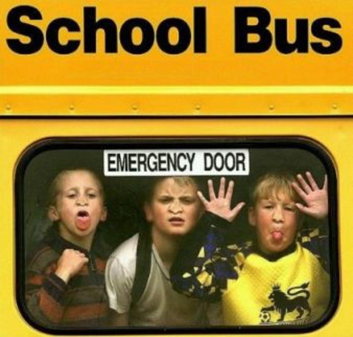 school bus-funny faces