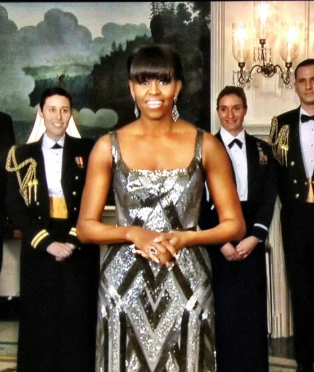 Michelle Obama Oscar Dress