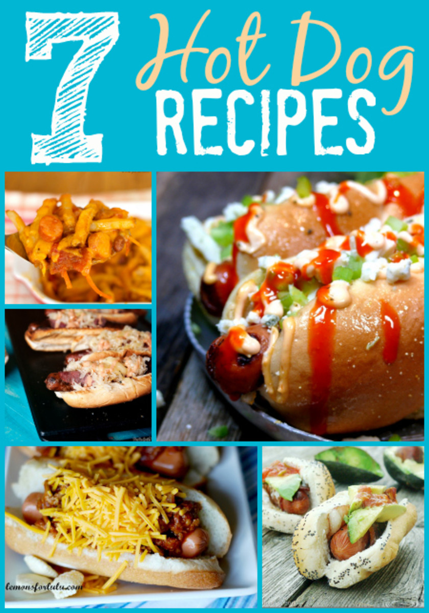 7 Hot Dog Recipes to Pep Up Your Pup! www.TodaysMama.com #hotdogs #dinner