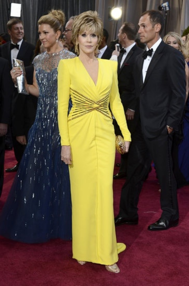 jane fonda oscar dress