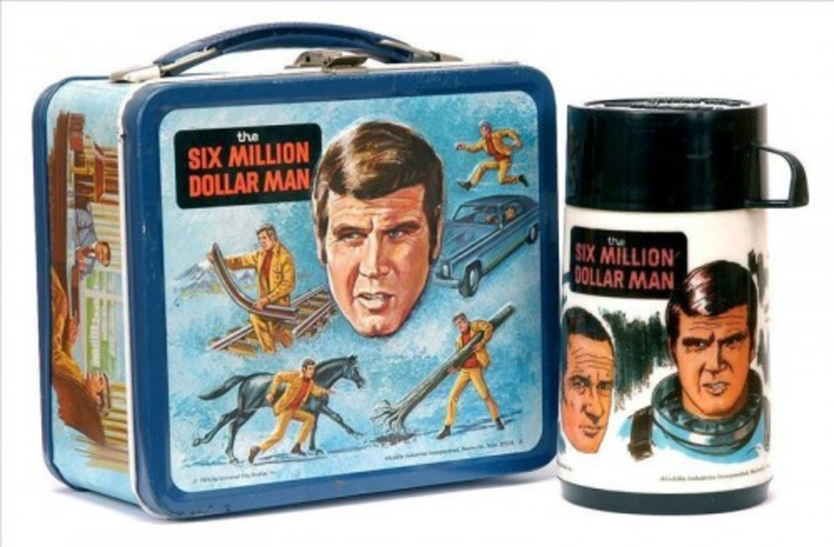 six million dollar man lunch box