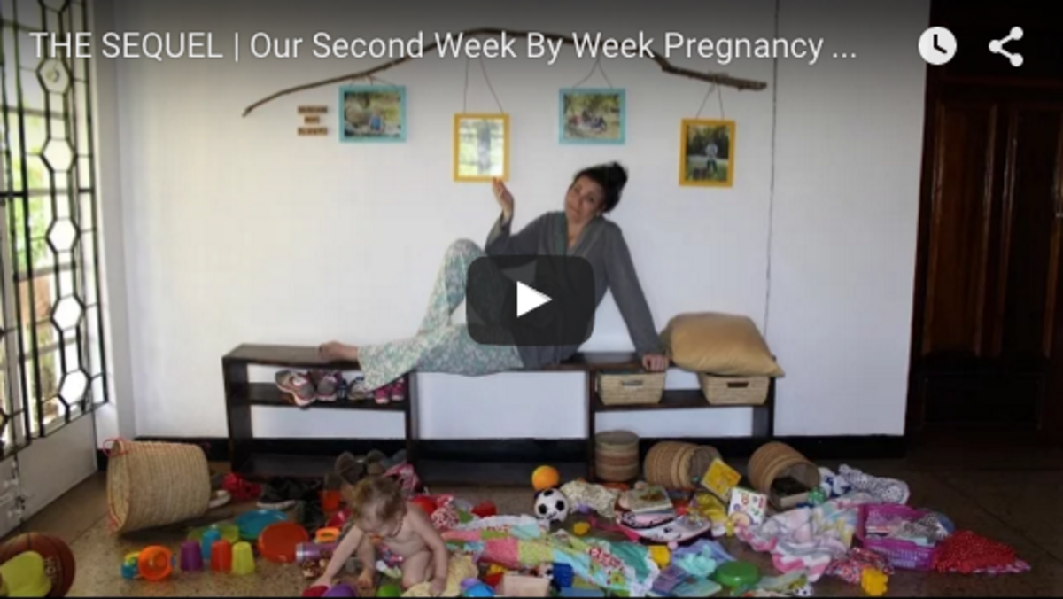 Week by Week Pregnancy Time Lapse from Mark and Brittany in Africa