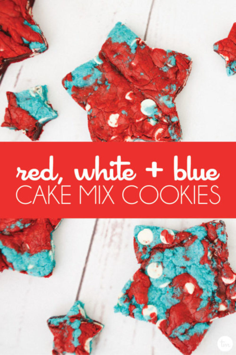 Delicious patriotic fourth of july cookies using few ingredient and cake mix