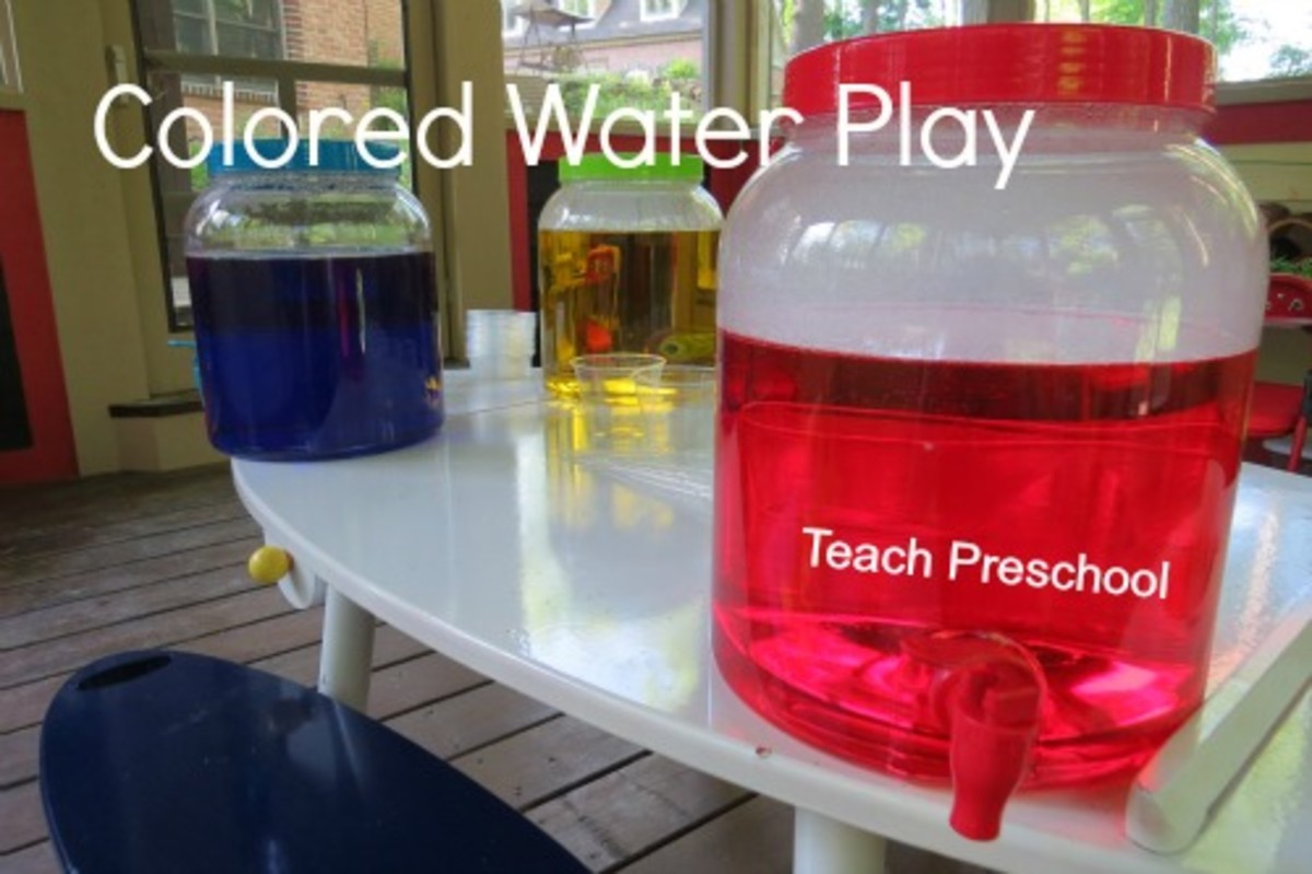 Colored Water Play