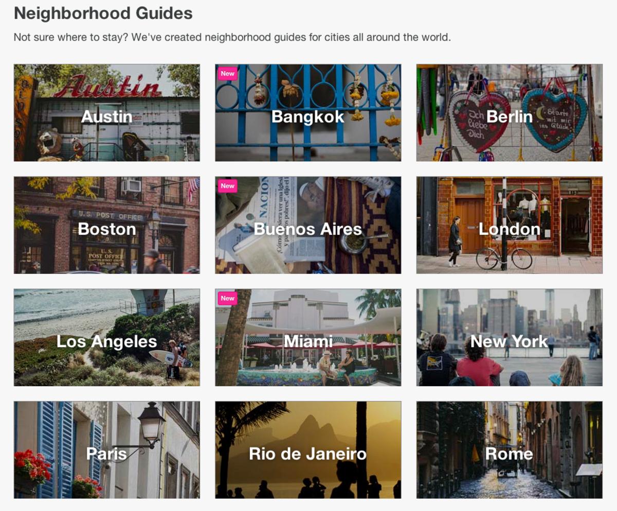 Neighborhoods Tool on AirBnb