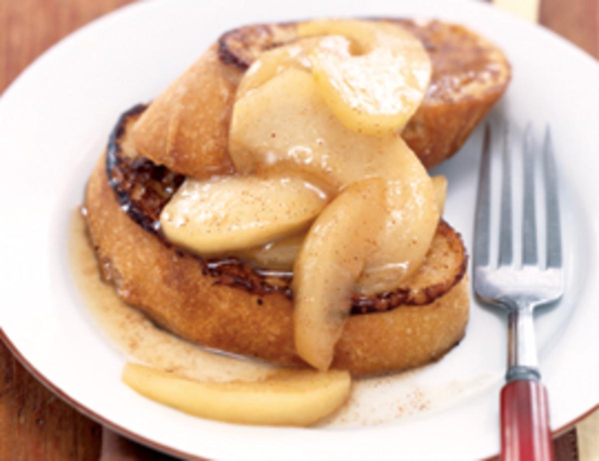 Cinnamon Apple Vegan French Toast