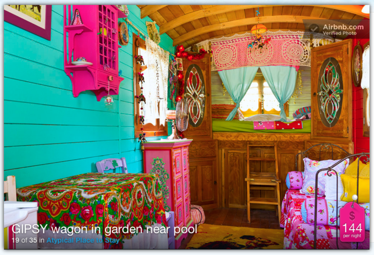 Stay in a gypsy wagon with AirBnb.com!