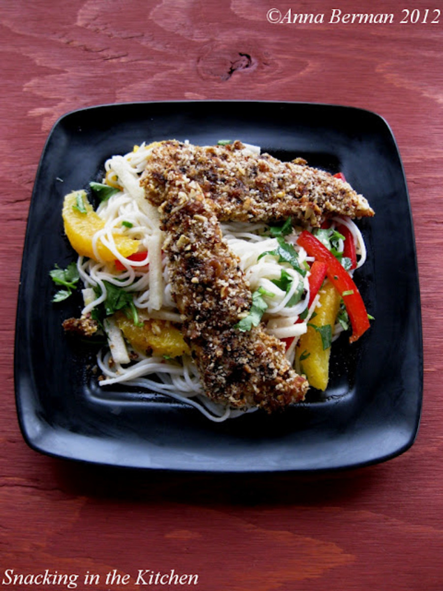 Girl Scout Samoas Baken Chicken Tender and Noodle Salad