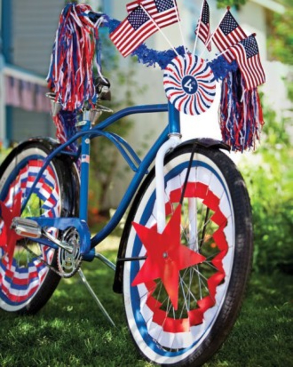 patriotic bicycle