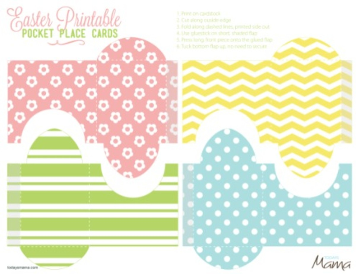Easter printable pocket placecard