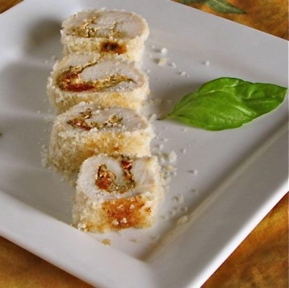 Pesto Stuffed Chicken Rolls   Miss in the Kitchen