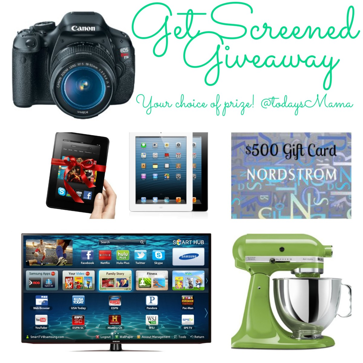 Get Screened - Enter to win your choice of prize AND know your risk