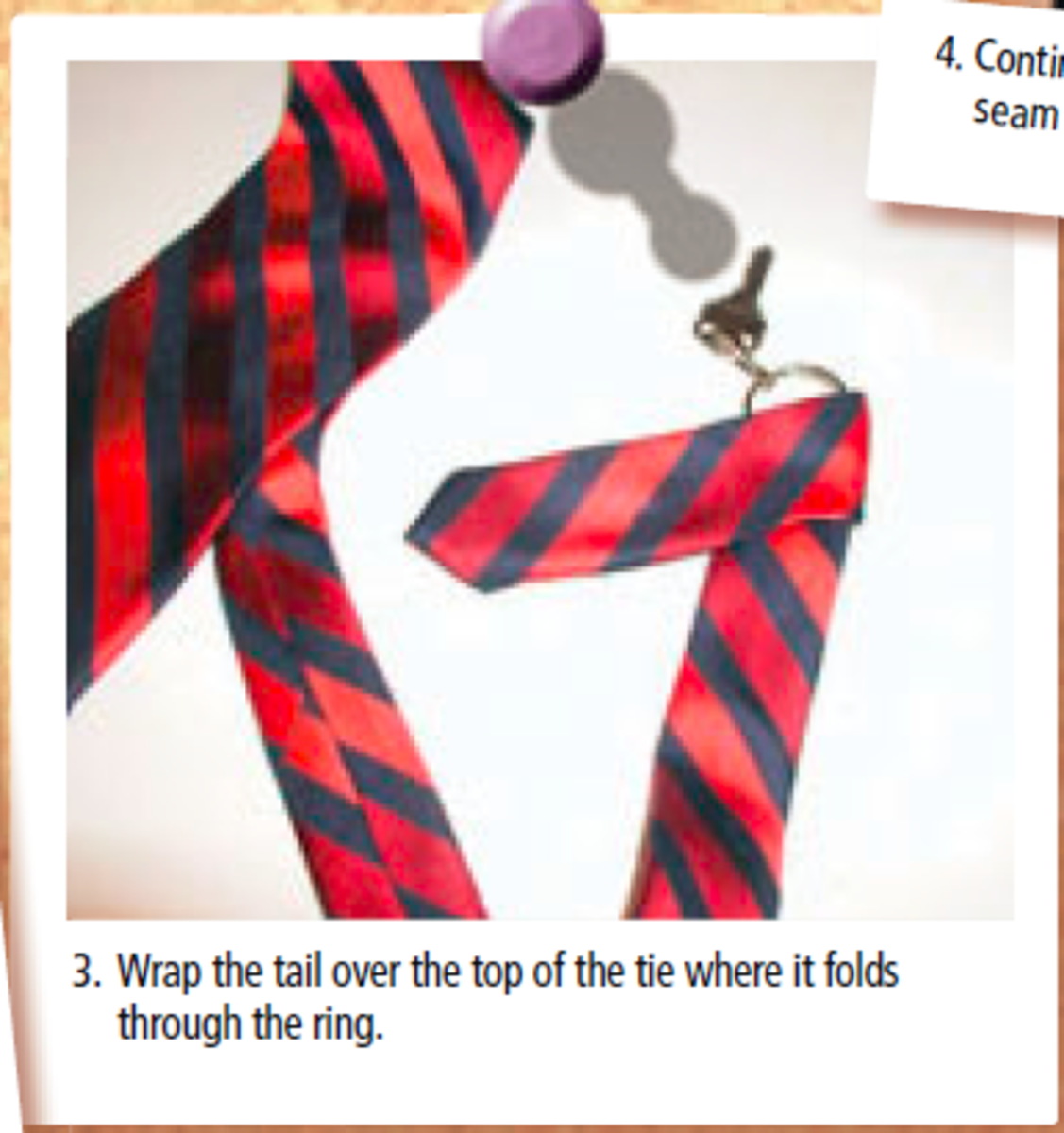 Mini Tie Keychain Step 3